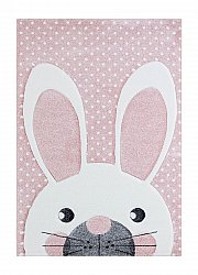 Kindervloerkleed - London Rabbit (roze)