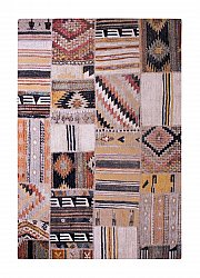 Vloerkleed 200 x 290 cm (wilton) - Tibet Patch (multi)