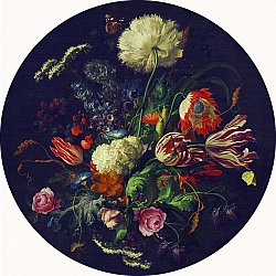 Rond vloerkleed - Rich Flowers (multi)