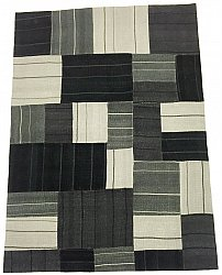 Patchwork - Superior new wool Patchwork (zwart)