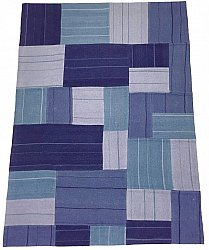 Patchwork - Superior new wool Patchwork (blauw)