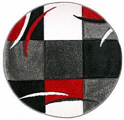 Rond vloerkleed - London Patch (rood)