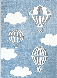 Kindervloerkleed - Bueno Hot Air Balloon (blauw)